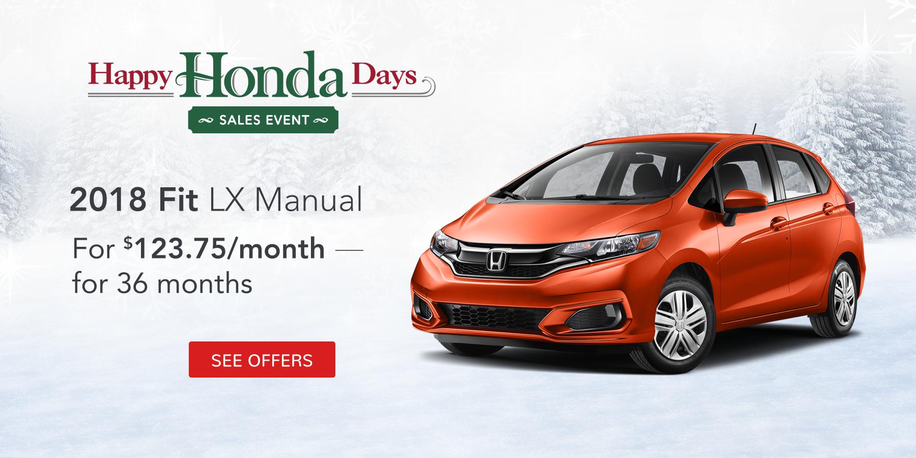 Fit December Offer Tamaroff Honda