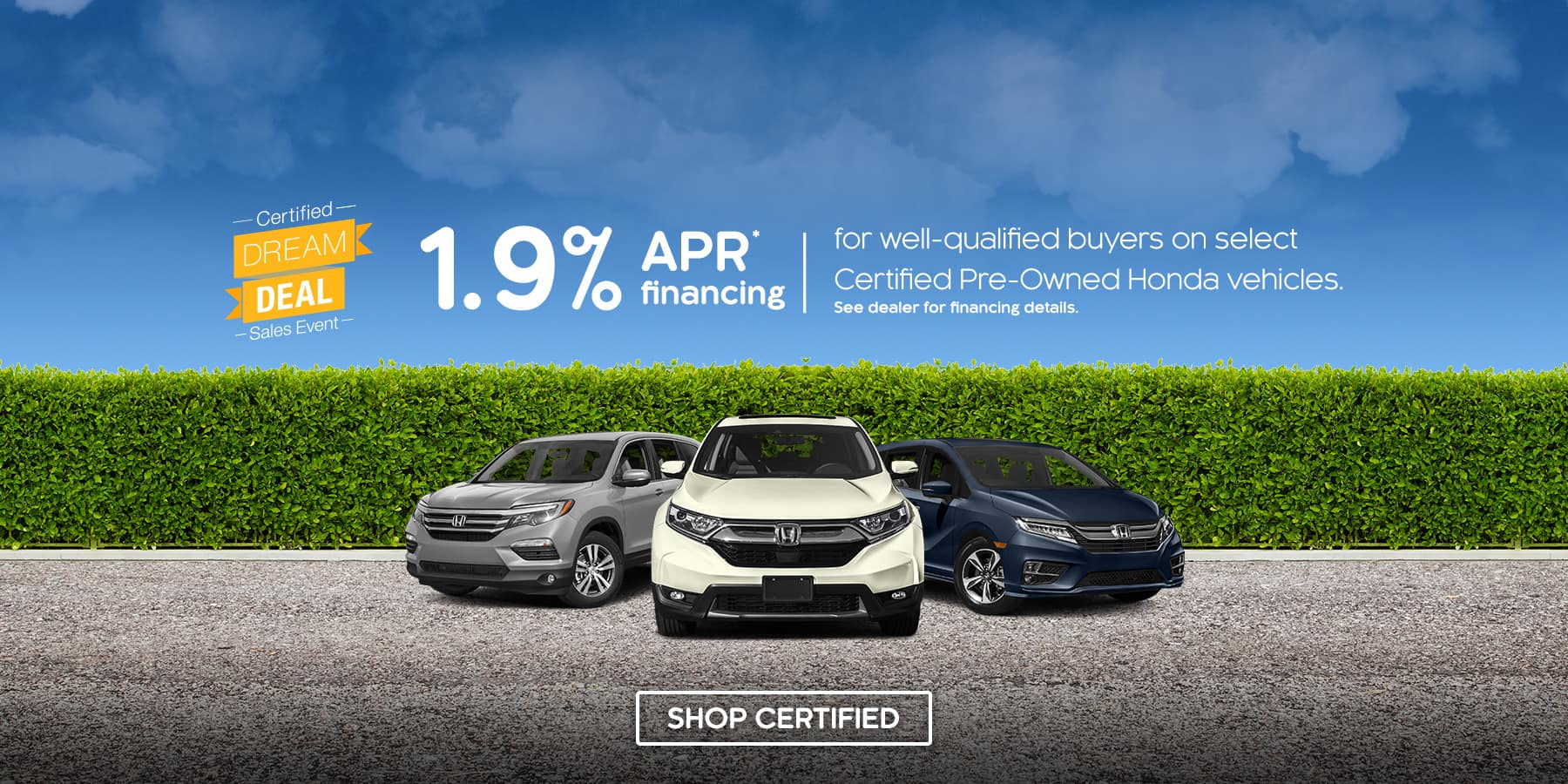 Tamaroff Honda Certified Dream Deal