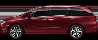 Red Honda Odyssey