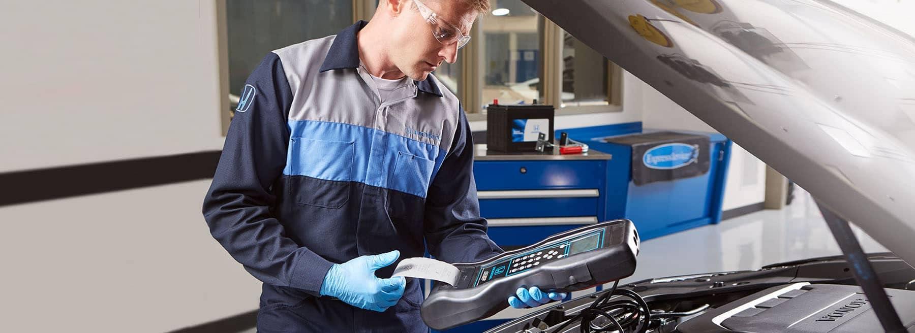 Honda Technician Working