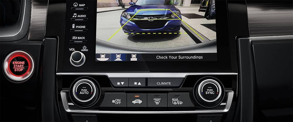 backup camera display in 2019 Honda Civic