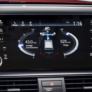 infotainment display in 2019 Honda Accord