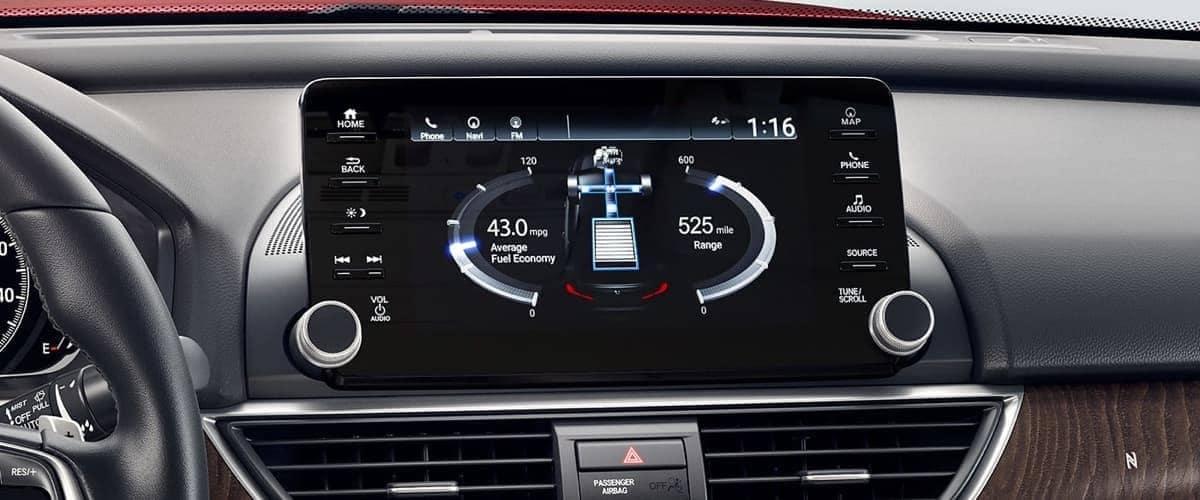 infotainment display in 2019 Honda Accord