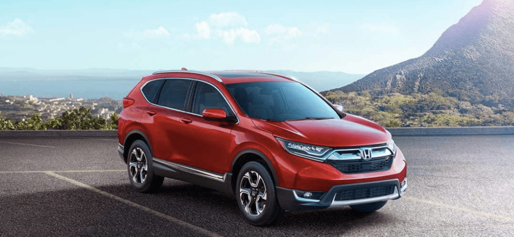 2019 Honda CR-V in Red in the Mountains