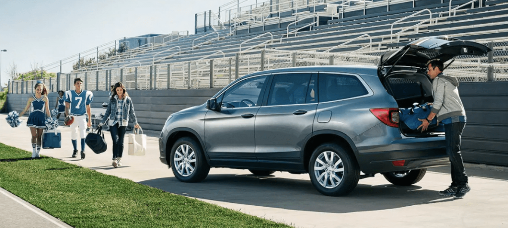 2019 Honda Pilot on the Football Field