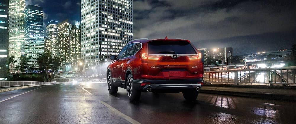2019 CR-V on the road at night