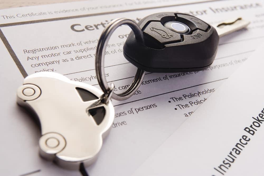 Car Keys and Insurance Documents