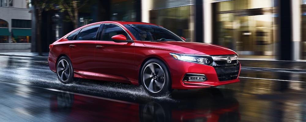 2020 Honda Accord on a wet road