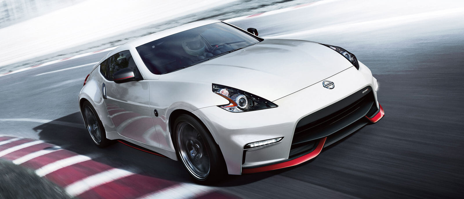 2016 Nissan 370Z in white on race track