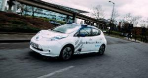 Nissan Driverless Car On Road