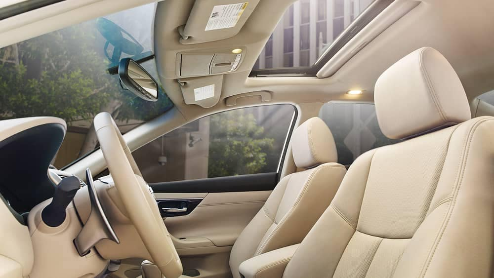 2018 Nissan Altima interior seating and moonroof