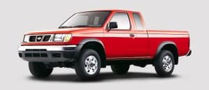 Red Nissan truck