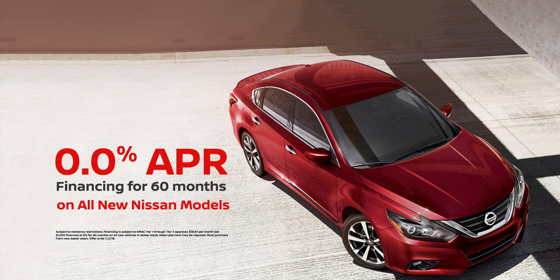0% APR for 60 Months on All New Vehicles at Tamaroff Nissan