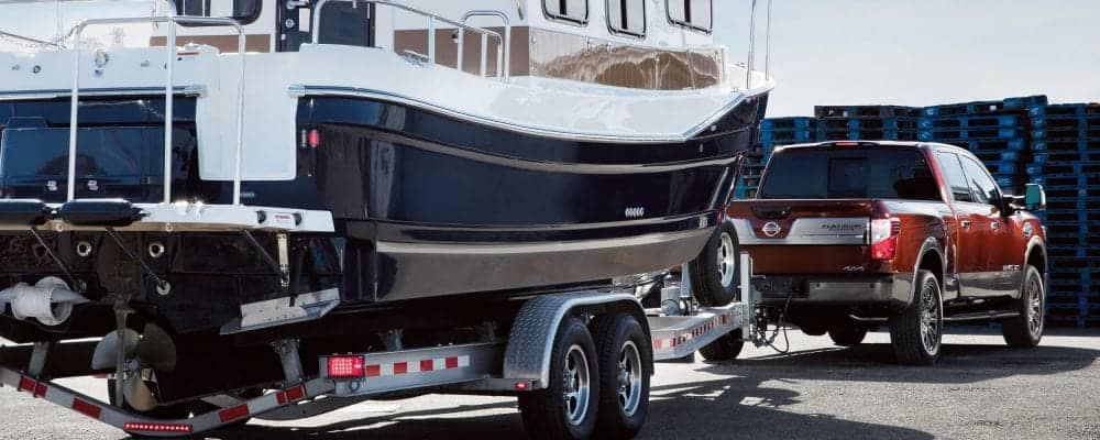 2018 Nissan Titan XD Towing Boat