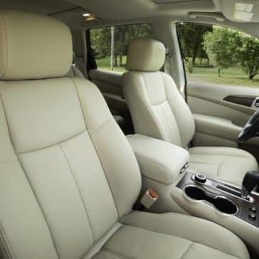 interior cabin of 2019 Nissan Pathfinder