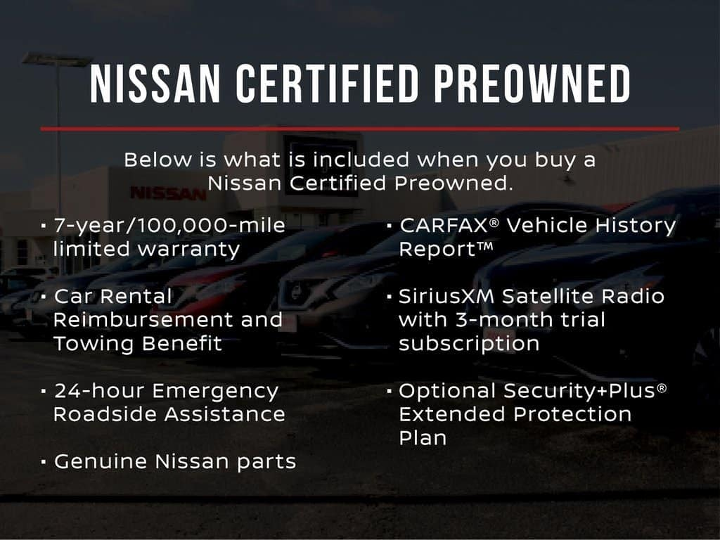 Nissan Certified Pre Owned >> Nissan Certified Pre Owned Benefits Tamaroff Nissan