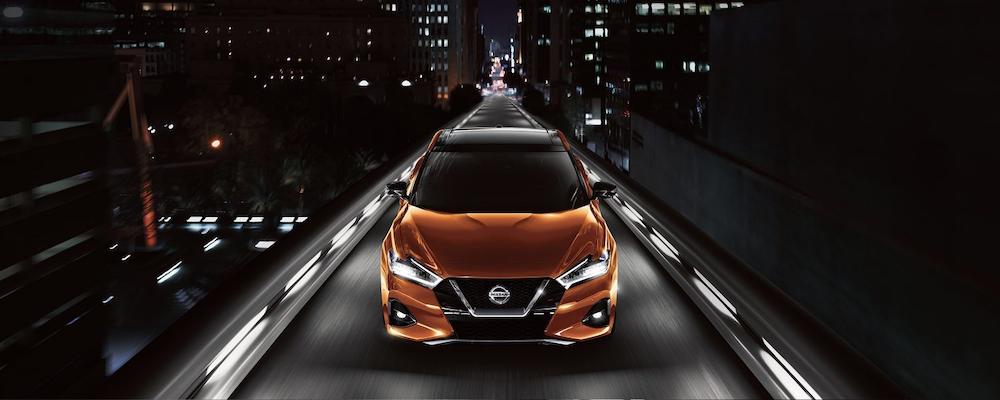 2019 Nissan Maxima at night