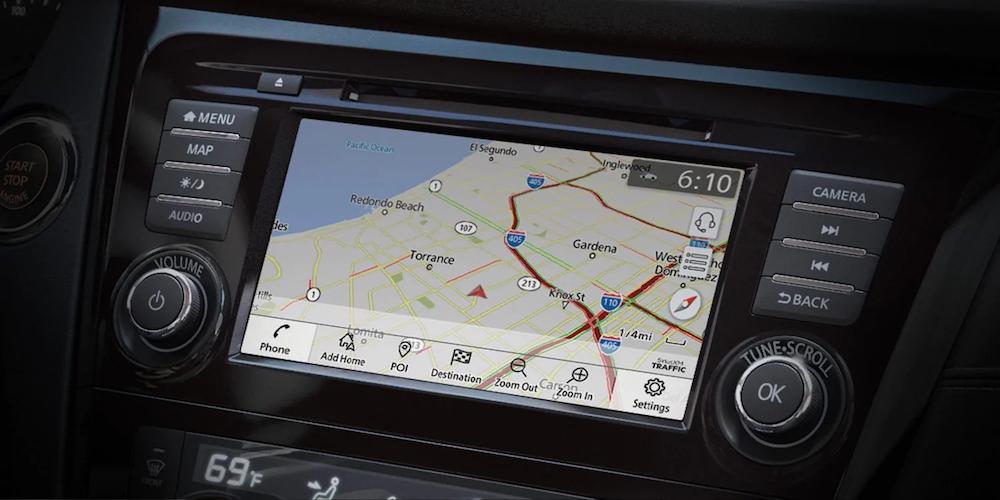Nissan Navigation Screen