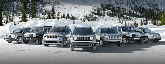 You can buy a used Jeep, like the lineup of silver Jeep vehicles shown here.