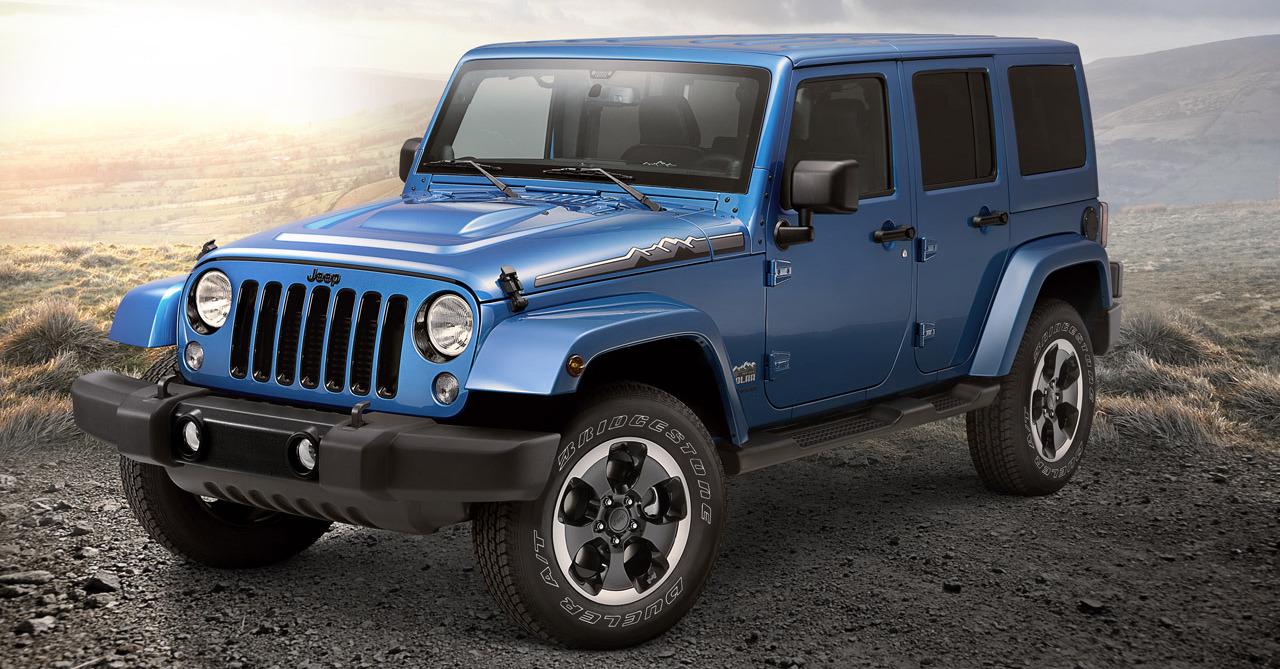 Blue 2014 Jeep Wrangler Unlimited Polar Edition
