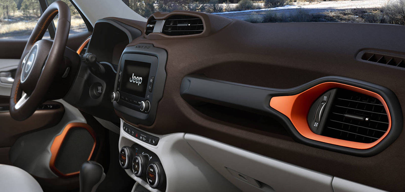 2016 Jeep Renegade Interior design in forest