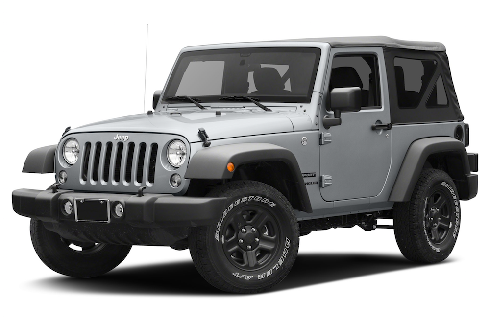 Grey 2017 Jeep Wrangler in Colorado Springs, CO.