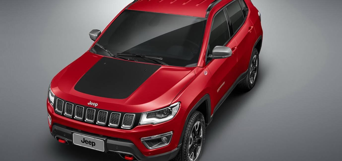 Red 2017 Jeep Compass preshipped to Colorado