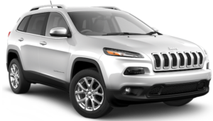 A gray 2017 Jeep Cherokee