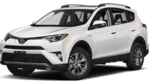 A white 2017 Toyota Rav4