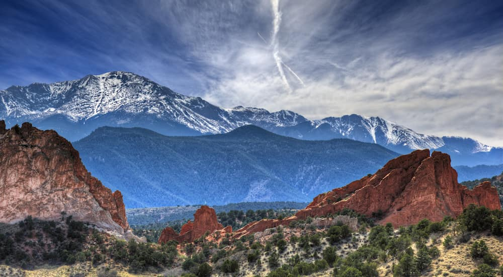 The mountains at the Garden of the Gods nature center in Colorado Springs is shown.