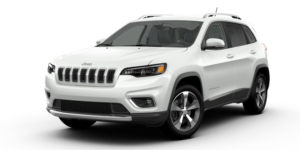 A white 2019 Jeep Cherokee from the Faricy Boys