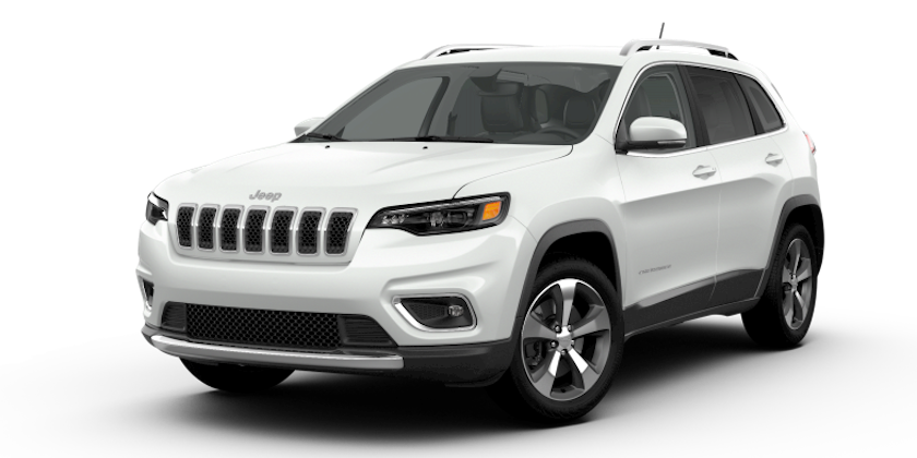 Colorado Springs - A white 2019 Jeep Cherokee from the Faricy Boys