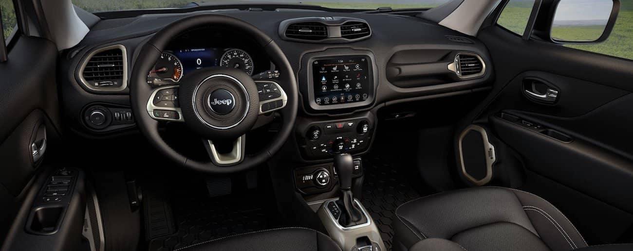 Colorado Springs - Black interior of the 2019 Jeep Renegade