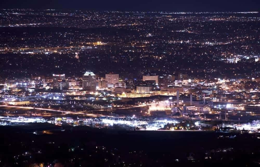 Colorado Springs city lights at night