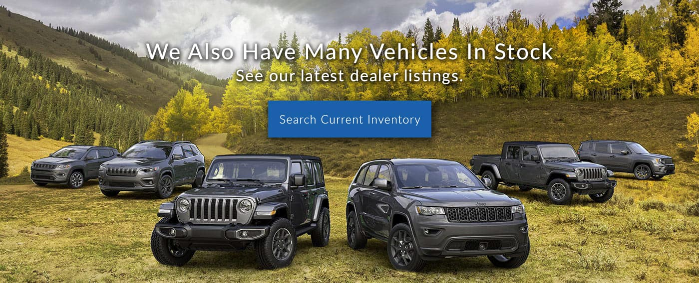 We also have many vehicles in stock. See our latest dealer listings.