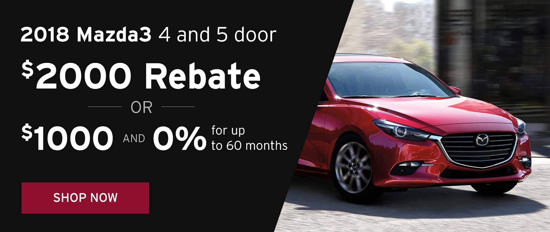 June Mazda3 4/5 Offer