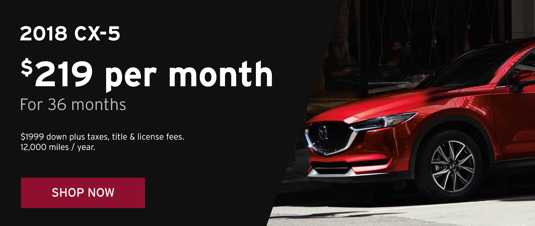 June 2018 CX5 Lease Offer