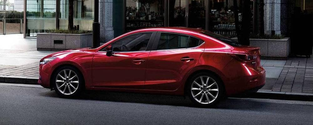2018 Mazda3 Red Side View