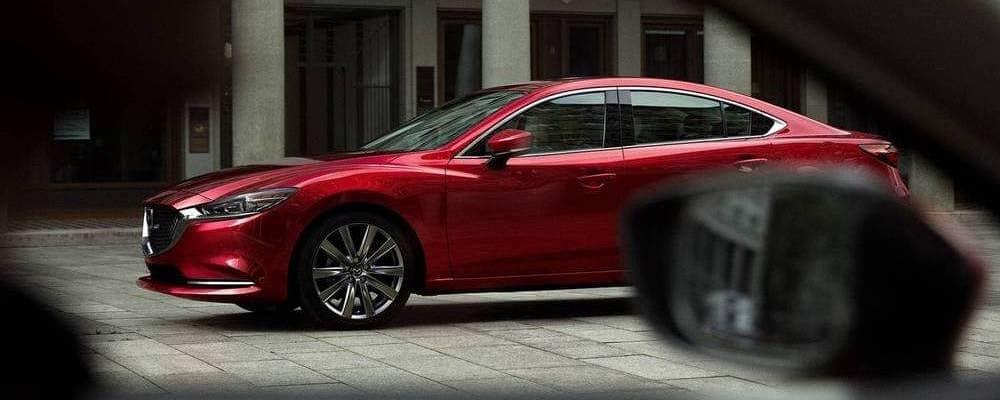 Red Mazda6 in Street