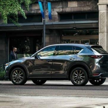2019 Mazda CX-5 in machine gray parked