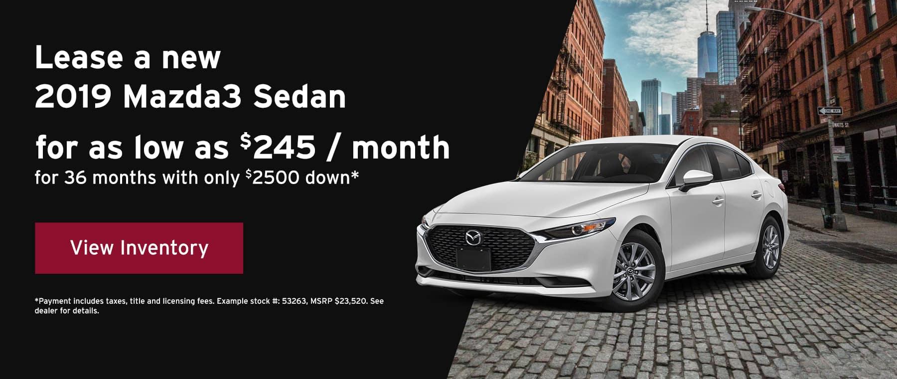 June 2019 Mazda 3 offer