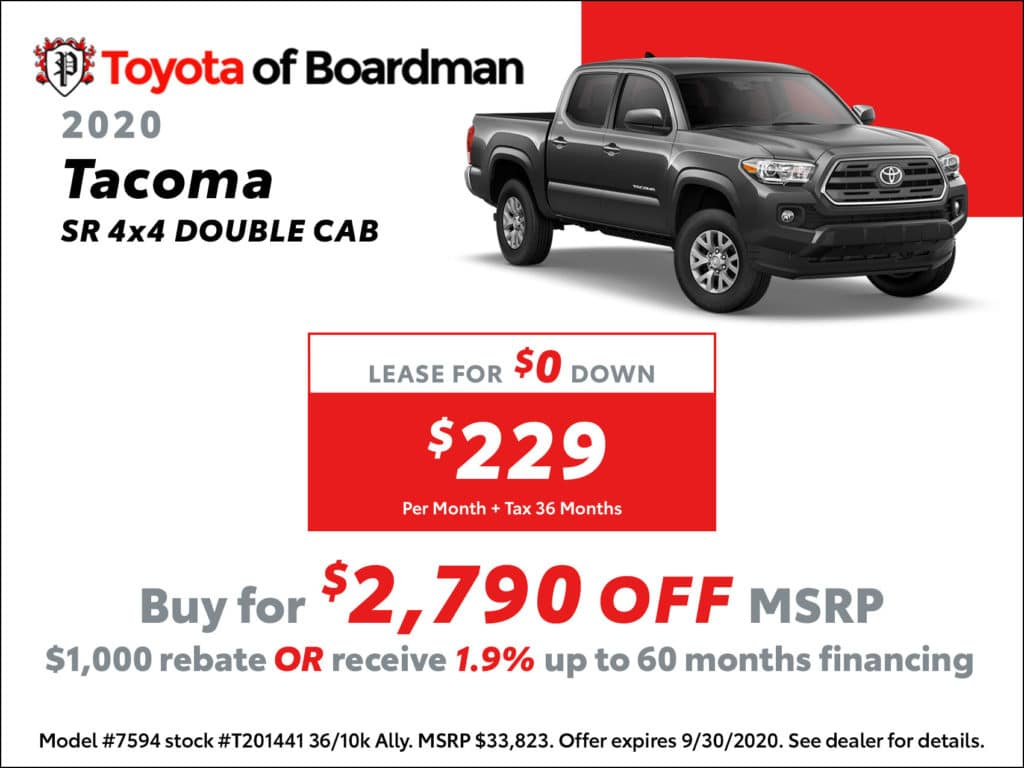New 2020 Toyota Tacoma SR 4X4 Double Cab