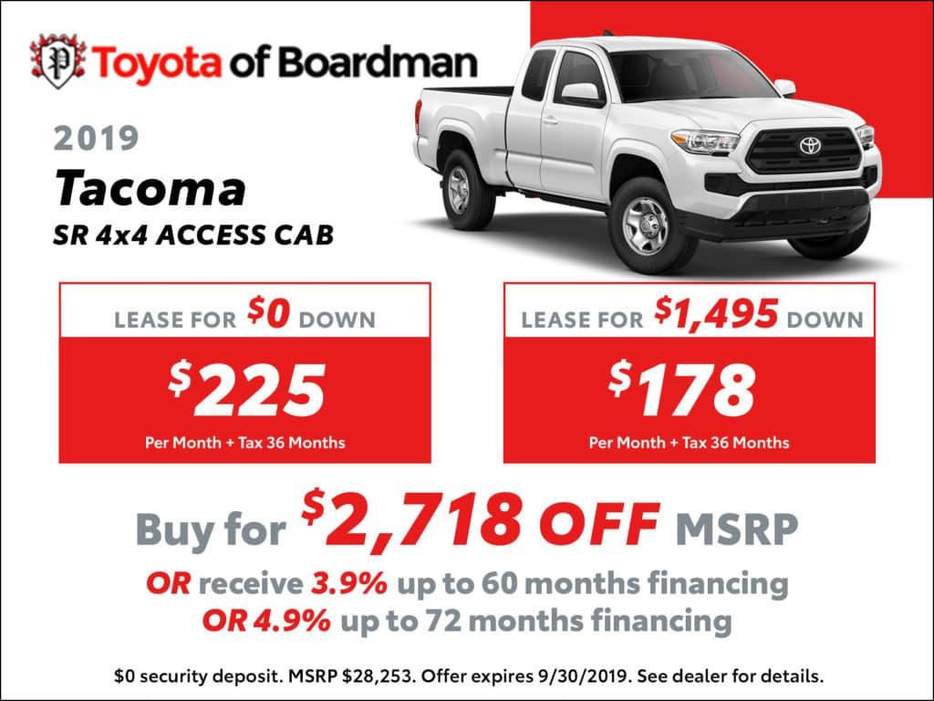 New 2019 Toyota Tacoma SR 4X4 Access Cab