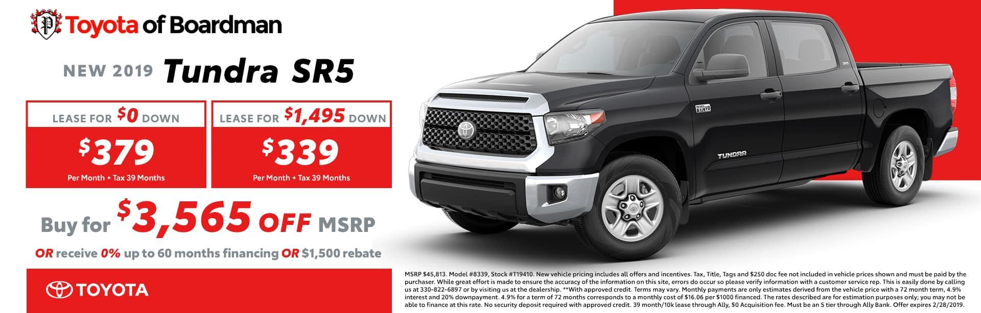 2019 Tundra SR5 Special