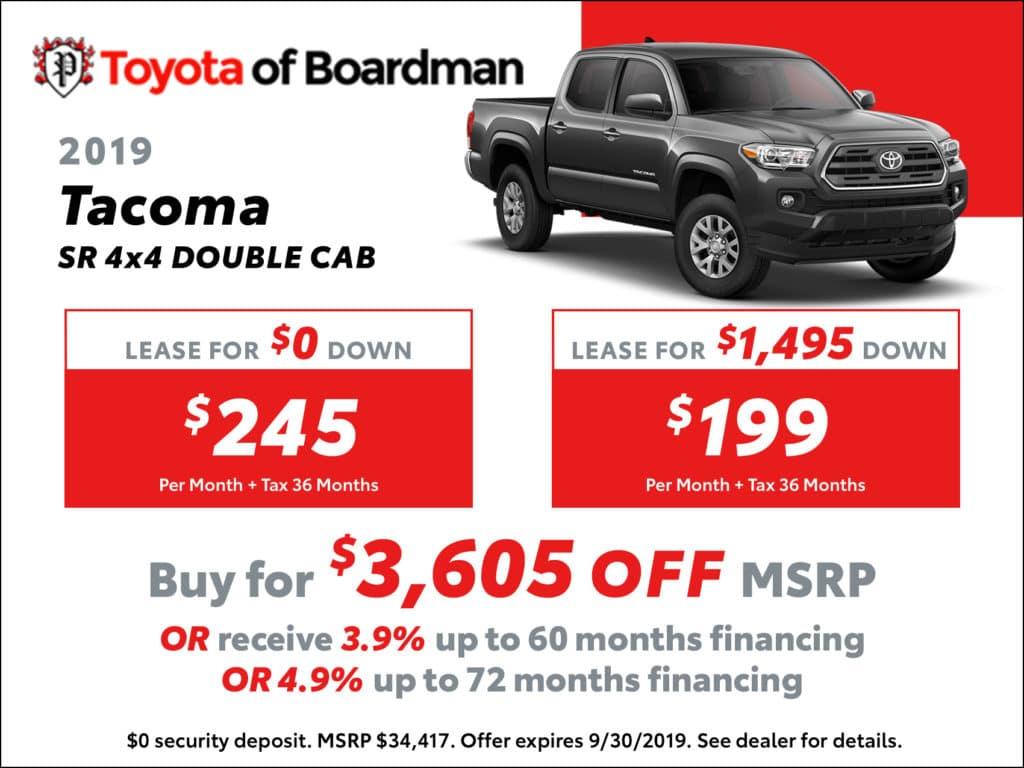 New 2019 Toyota Tacoma SR 4X4 Double Cab