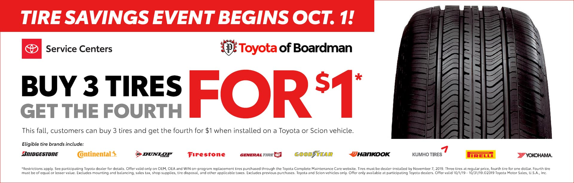 Tire Sale at Toyota of Boardman