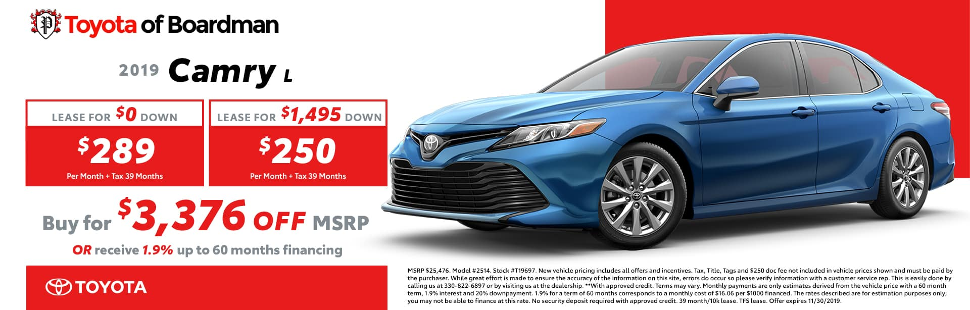November special on the Toyota Camry