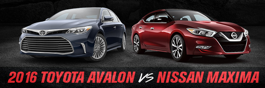 Toyota Avalon Compared to Nissan Maxima - Toyota of Gastonia