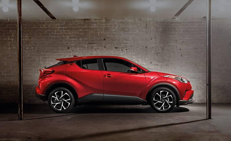 2018 Toyota C-HR Ruby Flare Metallic Side