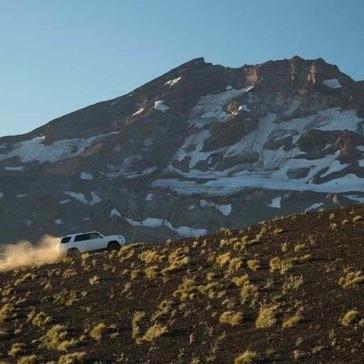 2017 Toyota 4Runner driving up a gravel hill